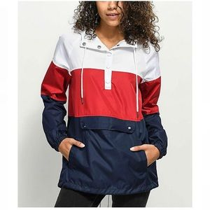 ZINE Jacqui Red White & Blue Windbreaker - Size S